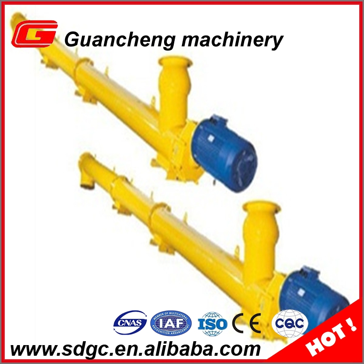 High efficiency 323mm worm screw conveyor for cement transport