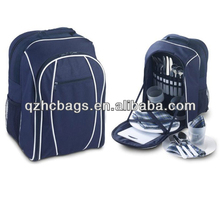 4 Person Blue Picnic Backpack Bag