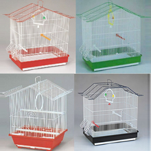 small decorative portable wire steel bird cage carrier