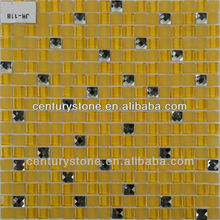 Mini Square Decorative Glossy And Matt Glass Gold Mosaic Tile Mix Beveled Mirror Tiles Wholesale