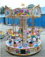 3/6 Seats Mini Fairground rides Small Carousel For Sale