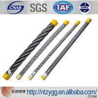 galvanized steel messenger cable for taiwan bike factory 6x7 7x7 6x12 size from 1.0mm to 45mm made in nantong