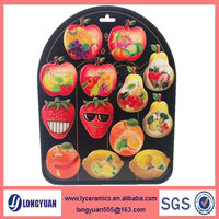 Fruit shape soft PVC souvenir epoxy fridge magnet