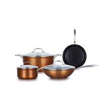 kitchen cookware Stainless Steel handle cooking ware induction cookware