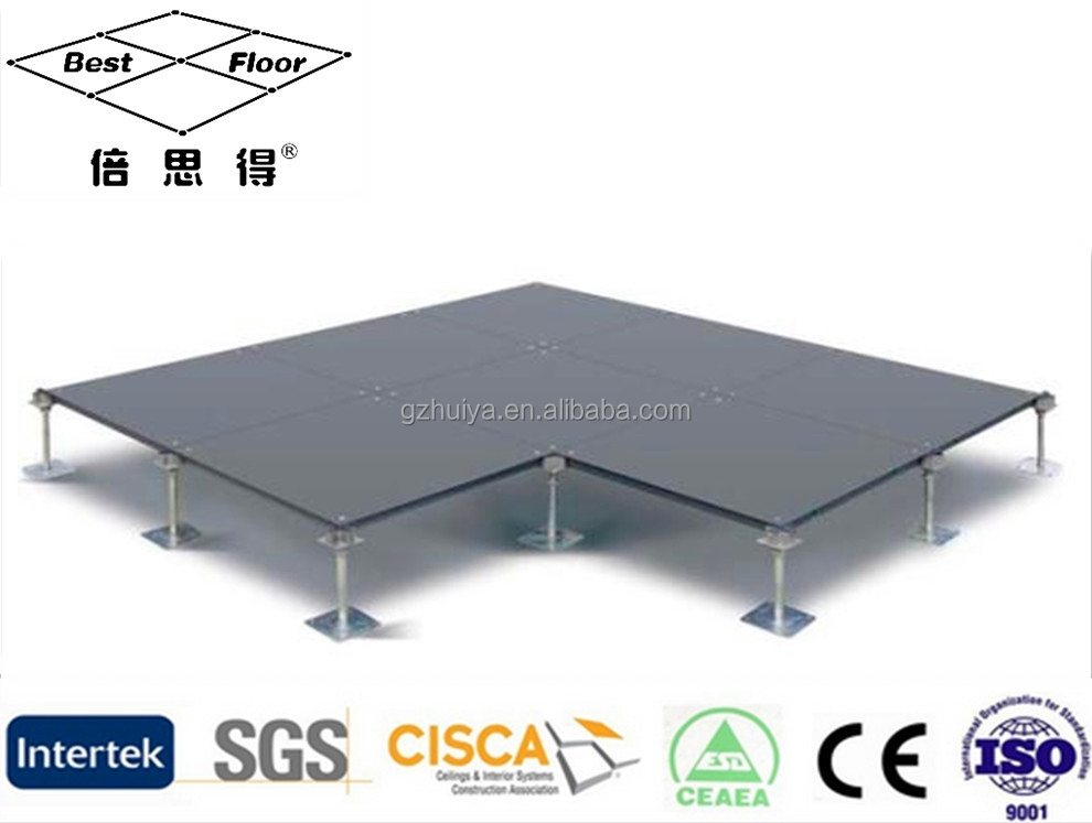scew down system support the bare finished cementitious steel raised floor 600*600mm or 500*500mm