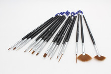 15 in 1 Wholesale 15pcs Nail Art Brush Set Nail Art Gel and 3D Paint Brush Set