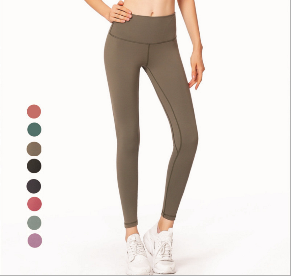 Sport Clothing Ladies Fashion Sexy Running Yoga Polyester Spandex European Stylish Plain Color Young Girls Sexy New Gym Pants