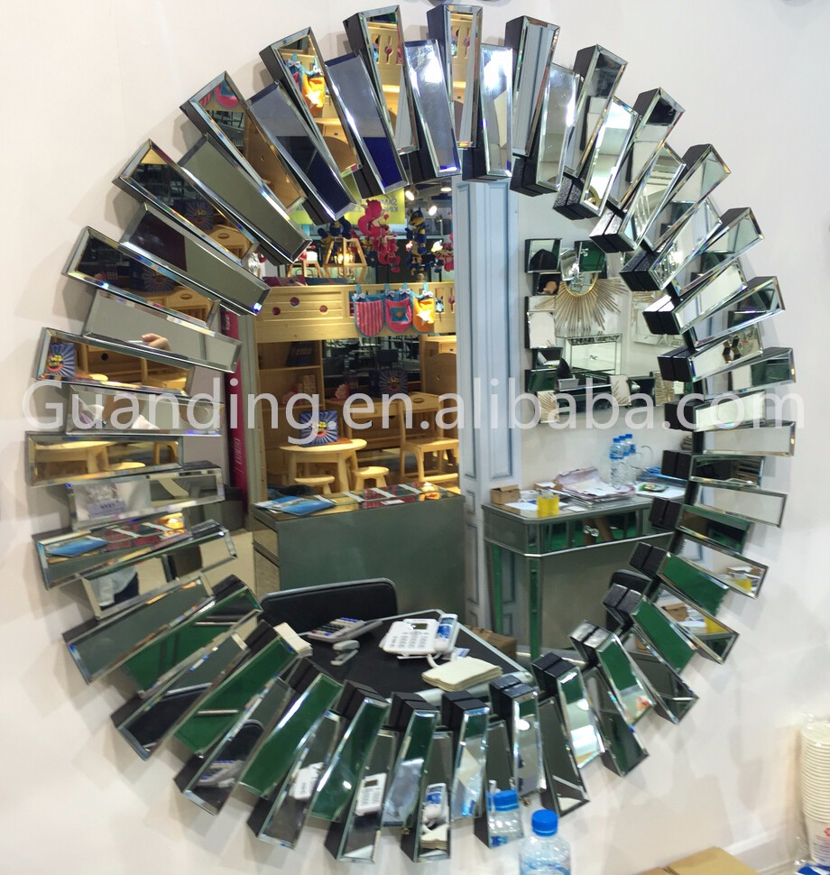 Factory smart bent glass decorative wall mirror wholesale