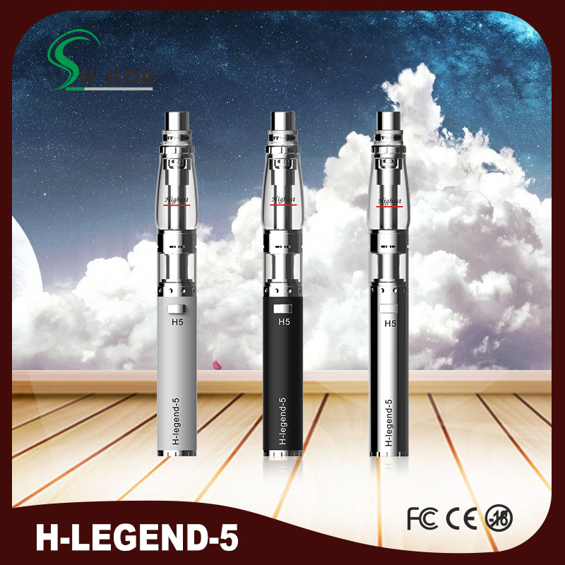 HKDA H legend 5 vape pen vaporizer H5 stainless steel hookah hookah pens clearomizer with water device LED