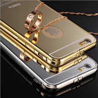 Manufacturer aluminum 24k gold plating back cover ultra thin case for Apple i Phone 6s