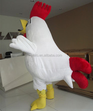 Hot ! ! Lovely Customized Design White Chicken Mascot Costume /Advertising Chicken Costume For Adult