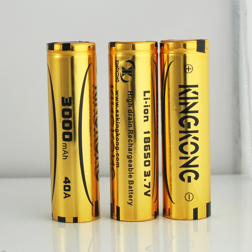 ICR18650 3.7V 3000mAh cylinder Lithium-ion battery Original KingKong product