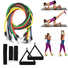 Hot Product Home Gym Using Fitness Equipment TPE Fitness Resistance Band Kit 11pcs Per Set