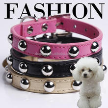 China factory prices fashion pet dog collars comfortable leather dog collar leash