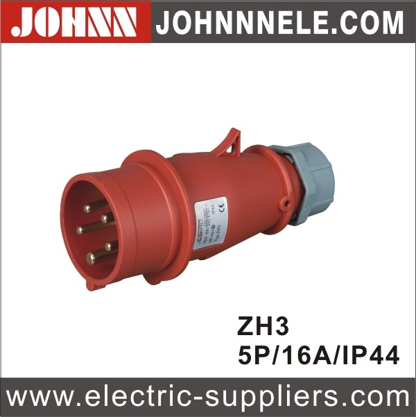 New Products IP44 5 Phase Waterproof Industrial Plug