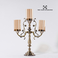 Home Decorative Modern Metal Three Head Candle Holder Stand