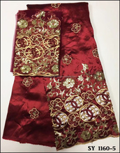 Latest Wholesale african raw silk George india silk George With Blouse African Lace fabric