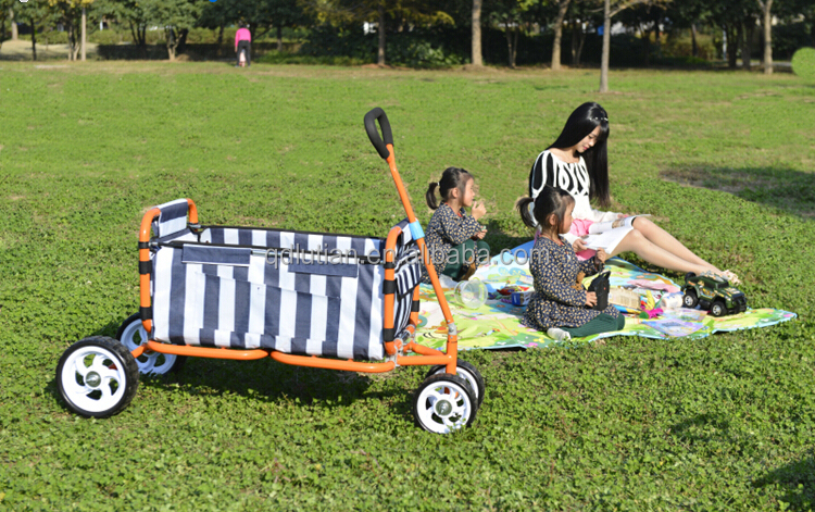 folding utility wagon cart