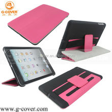 new case for ipad mini , Pink leather case for iPad mini