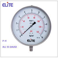 P-11 All SS manomter glycerin or Silicon filled or dry but fillable pressure gauge