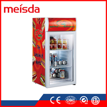 Hot Sale SC80B CE TUV sandwich display cooler glass display cabinet showcase