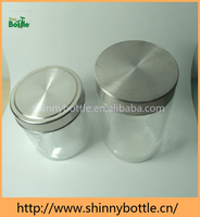 shinny metal screw cap food canning glass jar