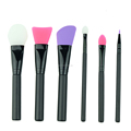 Amazon Top Seller 6 Pcs Makeup Silicone Mask Brushes Set Eyeshadow Lip Face Brush