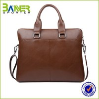 Factory Made Cheap 17 inch leather laptop bag for man