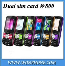 New arrival dual sim card phone 1.77inch high quanlity W800 mobile phone