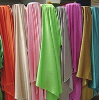 100% polyester cheap price colorful satin fabric at price