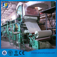 Best price tissue paper manufacturing machine with whole line production equipment