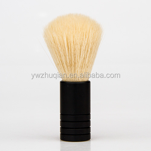 Wholesale beard brushes private Label metal handle shaving brush travel mini shaving beard brush