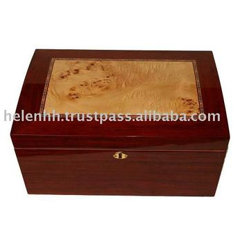 High Quality Glossy Wood Cigar Humidor