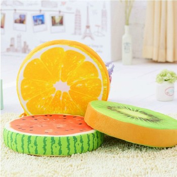 Good Quality Therapeutic Fruit Print Funny Wooden Sofa Seat Cushion