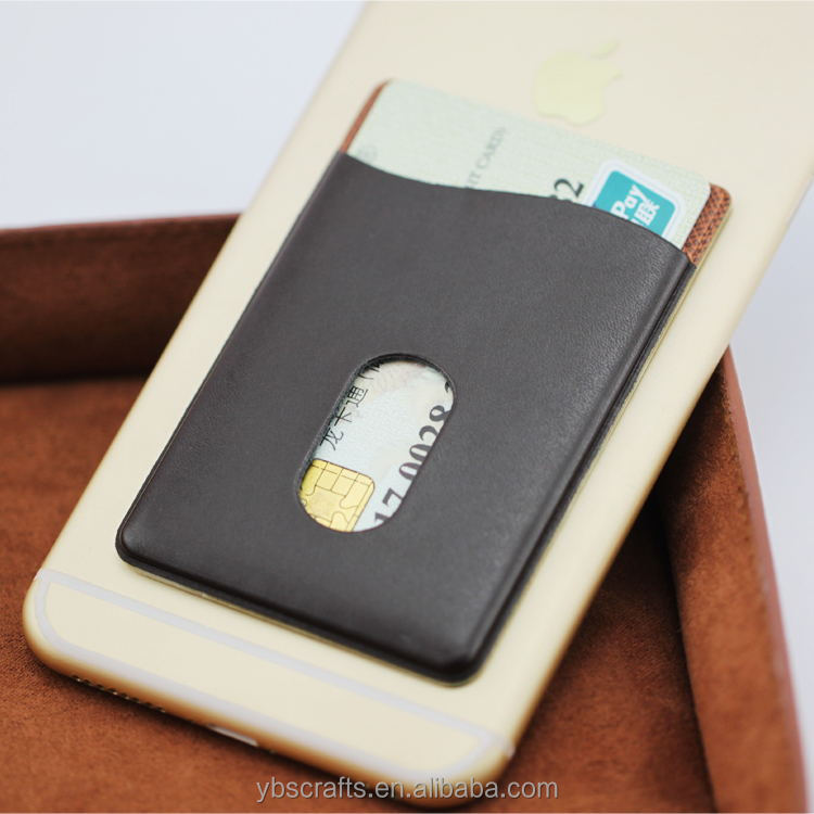 Hot selling gift product leather universal mobile cell phone sticker stand card holder