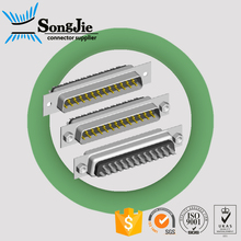 15 pin d sub mini connector solder type/ female socket d sub 25 pin connector
