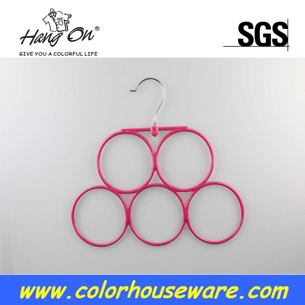 Ring pvc coated towel hanger