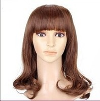 Sweet style hair wigs pineapple wave natural color lace front wig