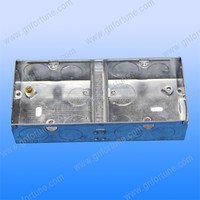 steel plated weatherproof electrical 1 input 2 outputs switch box