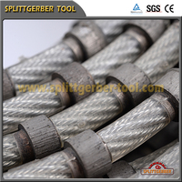 Diamond wire saw rope for cutting granite and marble