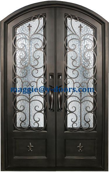 Eyebrow Arch American Double Entry Door Modern Wrought