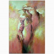 modern abstract original sexy female woman lady oil painting by number