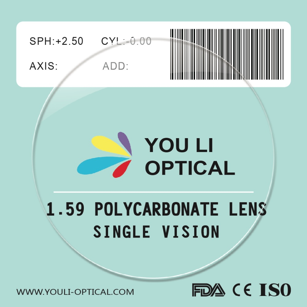 High Quality Stock Finished Polycarbonate Crystal Glasses Lens
