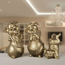 Hot Selling Resin Family Lucky Pig Mascot Festival Decor Home Decor