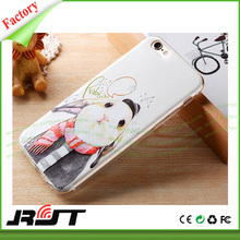 Clear Transparent Crystal Soft tpu printing mobile phone case rabbit, bunny rabbit case