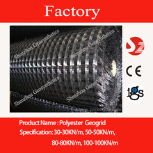 50-50KN/m Warp knitted polyester geogrids