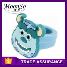 top sale animal monster educational toy silicone rubber finger ring for kids KR2179 MOONSO