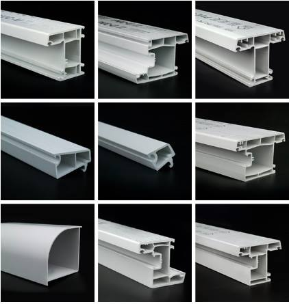 China hot sale pvc door profile ,pvc window profile ,plastic pvc profile