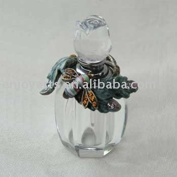customized animal & flower glass perfume bottle (P23012a)