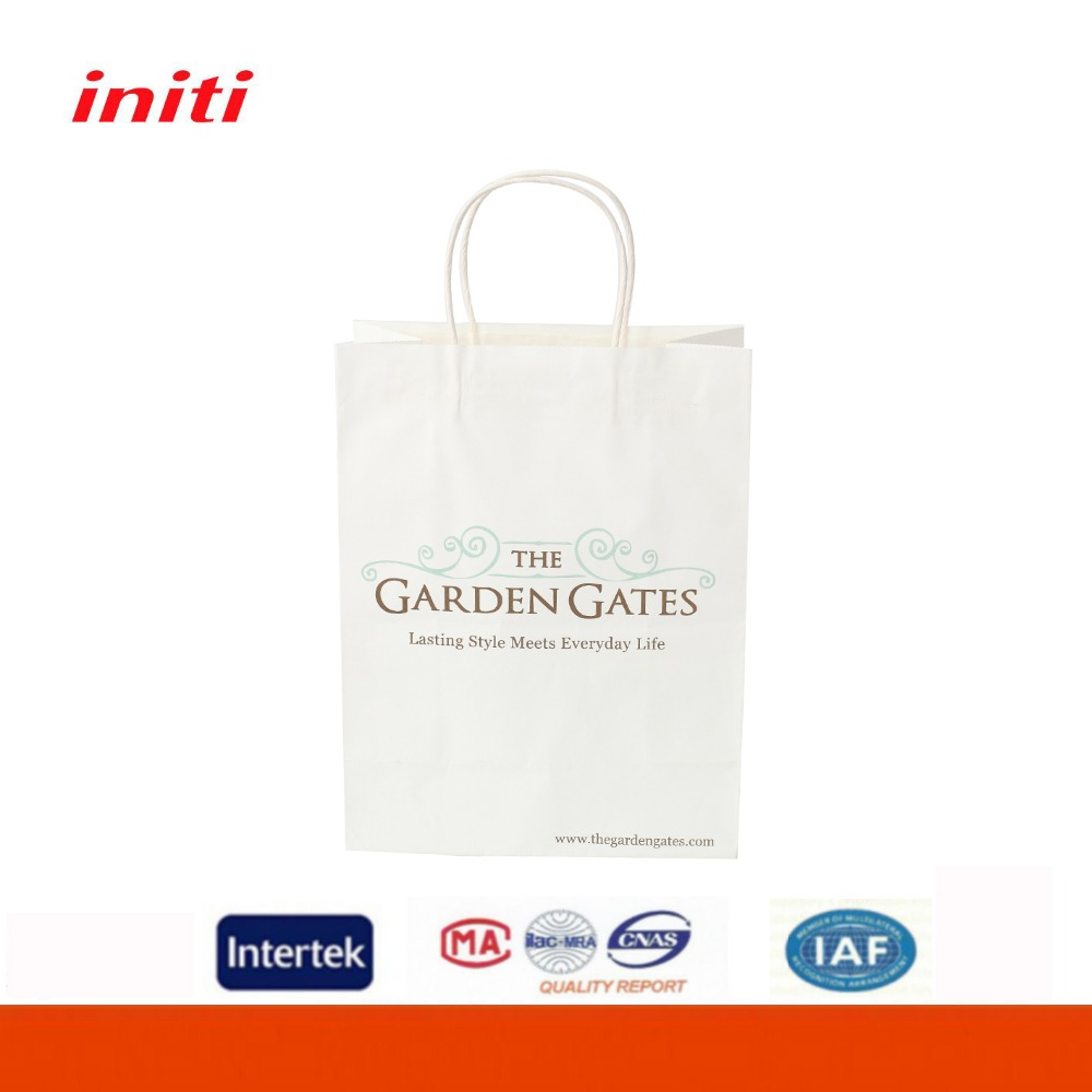 INITI Customized High Quality Wholesale Kraft Paper Shopping Bag